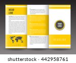business trifold brochure... | Shutterstock .eps vector #442958761