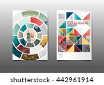 template design  abstract... | Shutterstock .eps vector #442961914