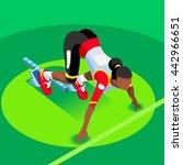 sportswoman sprinter runner... | Shutterstock .eps vector #442966651