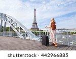 travel to paris  europe tour ...   Shutterstock . vector #442966885