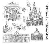 Saint Petersburg. Vector Sketch ...