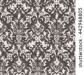 distressed damask pattern...   Shutterstock .eps vector #442968805