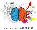 creative left brain and right... | Shutterstock .eps vector #442973659