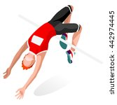 athletics high jump sportsman... | Shutterstock .eps vector #442974445