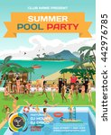 day beach  swimming pool  bar ...   Shutterstock .eps vector #442976785
