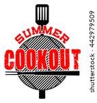 summer cookout is an... | Shutterstock .eps vector #442979509