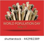 world population day greeting... | Shutterstock .eps vector #442982389