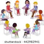 stickman illustration of teens... | Shutterstock .eps vector #442982941