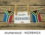 nelson mandela greeting card. | Shutterstock . vector #442984414