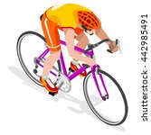 road cycling cyclist bicyclist... | Shutterstock .eps vector #442985491