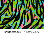 texture fabric of tiger for... | Shutterstock . vector #442989277