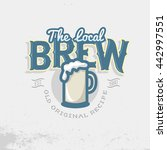 local brew emblem template.... | Shutterstock .eps vector #442997551