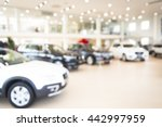 blurred dealership store  with... | Shutterstock . vector #442997959