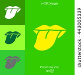 web icon. tongue | Shutterstock .eps vector #443005339