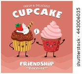 vintage cupcake poster design... | Shutterstock .eps vector #443006035