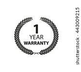 1 year warranty label | Shutterstock .eps vector #443009215