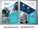 business brochure flyer design... | Shutterstock .eps vector #443009479