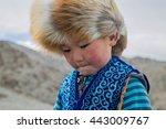 cute boy portrait of kazak... | Shutterstock . vector #443009767
