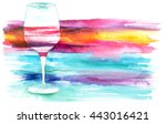 A Watercolor Drawing Of A Glas...