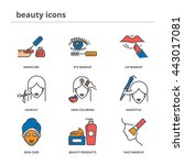 beauty color vector icons set ... | Shutterstock .eps vector #443017081