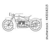 classic vector outline black... | Shutterstock .eps vector #443018215