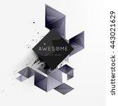 geometric vector background.... | Shutterstock .eps vector #443021629