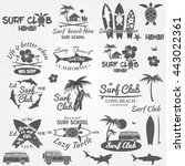 set of retro vintage badges and ... | Shutterstock .eps vector #443022361