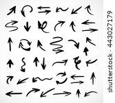 hand drawn arrows  vector set   Shutterstock .eps vector #443027179