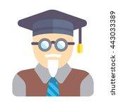 professor avatar | Shutterstock .eps vector #443033389