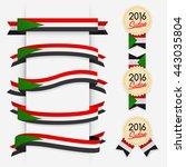 world flag ribbon   vector... | Shutterstock .eps vector #443035804