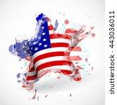 american flag star shaped for... | Shutterstock .eps vector #443036011
