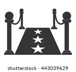 red carpet icon vector | Shutterstock .eps vector #443039629