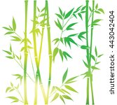 decorative bamboo branches....   Shutterstock .eps vector #443042404