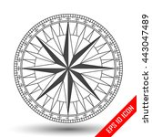 compass icon. simple flat logo... | Shutterstock .eps vector #443047489