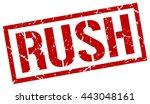 rush stamp.stamp.sign.rush. | Shutterstock .eps vector #443048161