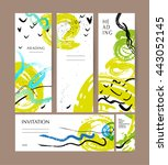collection of abstract creative ... | Shutterstock . vector #443052145