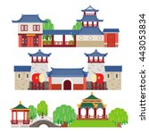 china building | Shutterstock .eps vector #443053834