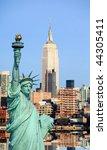 the new york city midtown...   Shutterstock . vector #44305411