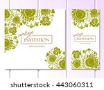 abstract flower background with ... | Shutterstock .eps vector #443060311