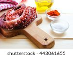 cooking galician style octopus  ... | Shutterstock . vector #443061655