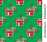 vector colorful christmas gift... | Shutterstock .eps vector #443066419