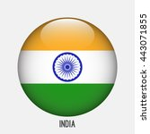 india flag in circle shape.... | Shutterstock .eps vector #443071855