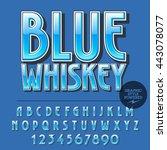 glossy set of alphabet letters  ... | Shutterstock .eps vector #443078077