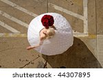 image of a bride twirling her... | Shutterstock . vector #44307895