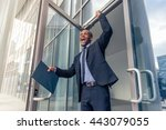 low angle view of handsome... | Shutterstock . vector #443079055