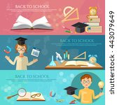 back to school banners... | Shutterstock .eps vector #443079649