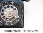 part of old black phone with... | Shutterstock . vector #443079691