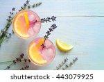 lavender lemonade  view from... | Shutterstock . vector #443079925