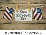 happy independence day greeting ... | Shutterstock . vector #443095039