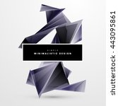 geometric vector background.... | Shutterstock .eps vector #443095861